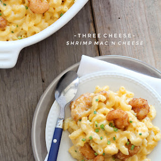 Three Cheese Shrimp Macaroni and Cheese
