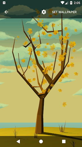 Tree With Falling Leaves Live Wallpaper - FREE ss3