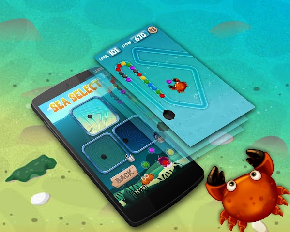 android Crab Revenge : Marble Shooter Screenshot 4