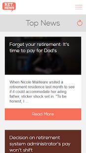 Retirement News- screenshot thumbnail