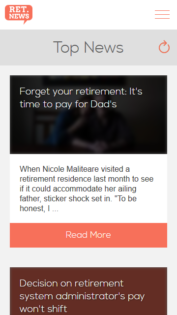 Retirement News- screenshot