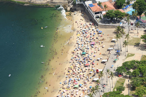 rio-beach-from-above.jpg - Red Beach seen from the top of Sugarloaf Mountain in Rio de Janeiro.