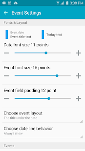 Clean Calendar Widget Pro Screenshot 5