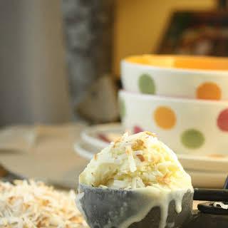 Coconut Ice Cream.