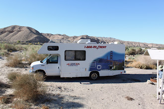 Photo: Morning in the Afton Canyon Campground. It wasn't easy to find it at night and park the RV in this spot.