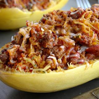 How to Make Stuffed Spicy Italian Spaghetti Squash Boats Recipe