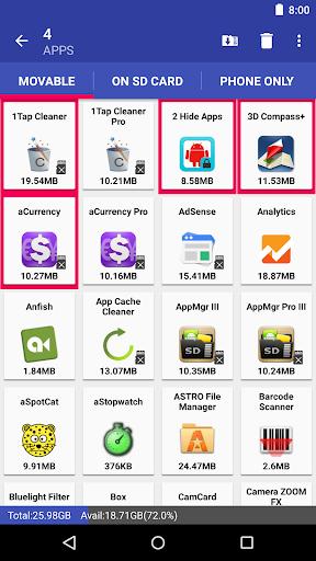 AppMgr III (App 2 SD, Hide and Freeze apps) 5.02 screenshots 7