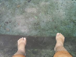 Photo: Unexpected fish spa at Sto. Niño Cold Spring Resort