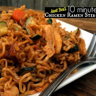 10 Minute Chicken Ramen Stir-Fry