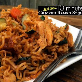 10 Minute Chicken Ramen Stir-Fry.