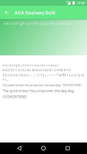 Arabic Fonts for FlipFont