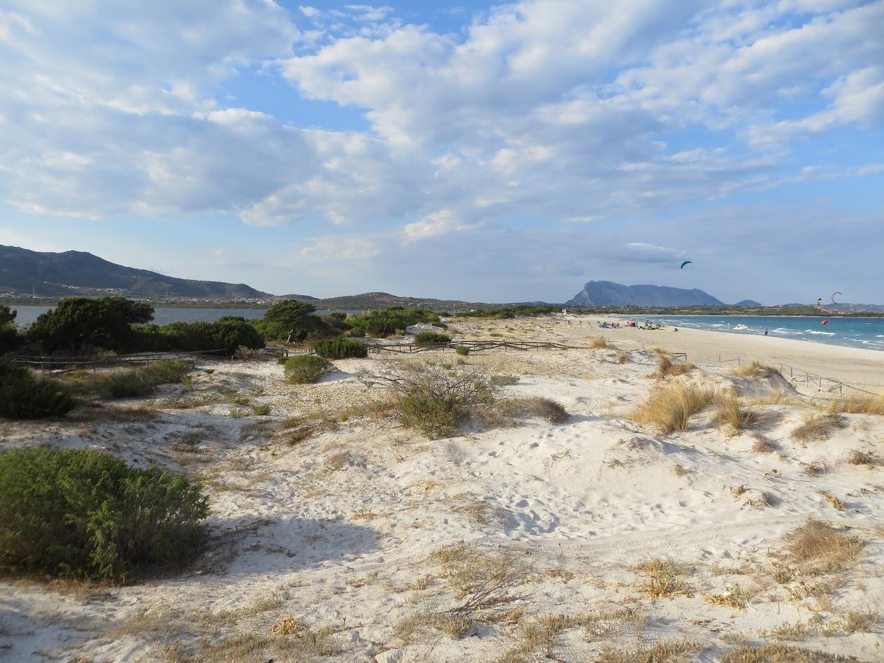 Дюны пляжа Ла Чинта и вид на воду и море