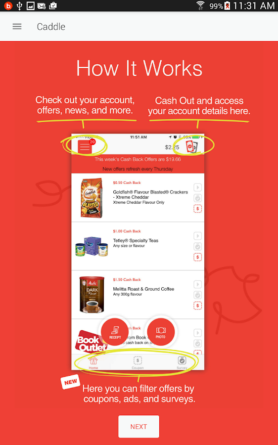 Caddle: Save Money with Caddle- screenshot