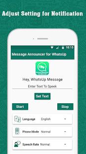 WhatsUp Messenger Announcer - náhled