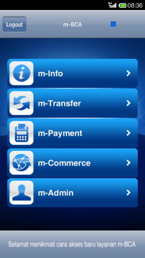 BCA mobile- screenshot