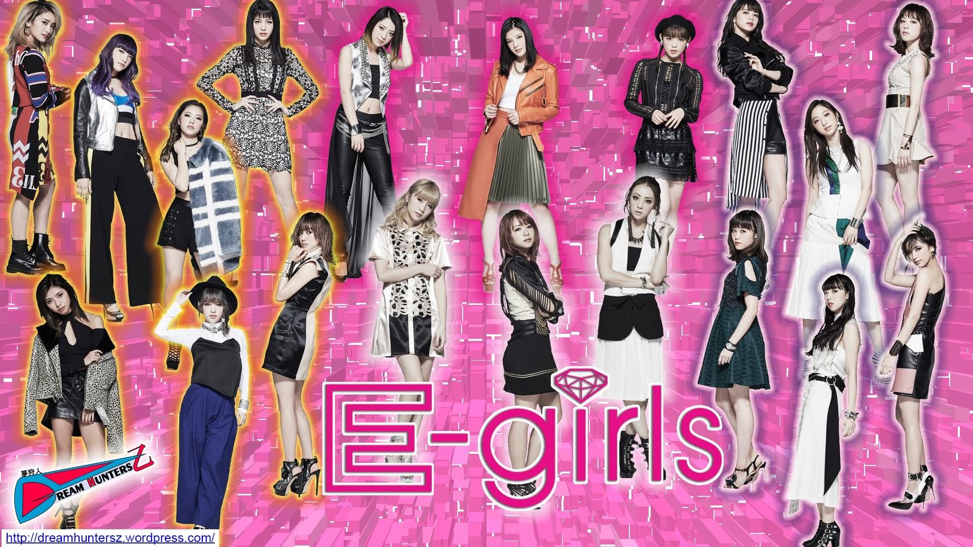 """E-girls - Montagem feita por mim, com fotos do álbum """"E.G. CRAZY""""."""