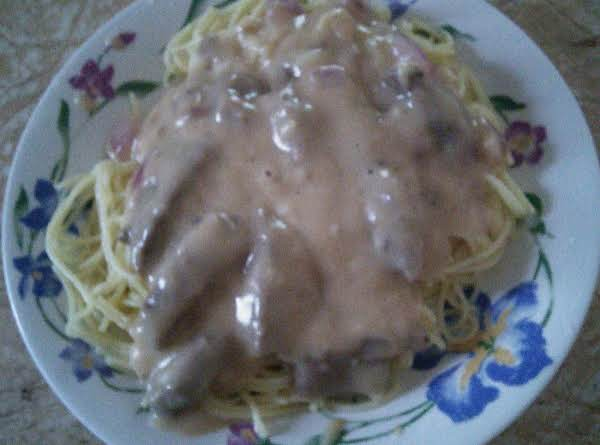 Cheesey Cream Steak Pasta Recipe