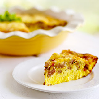 Crustless Sausage Cheese Quiche