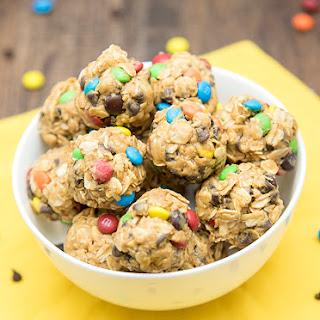No Bake Monster Cookie Granola Bar Bites.