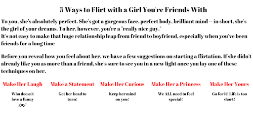 Ways to flirt a girl
