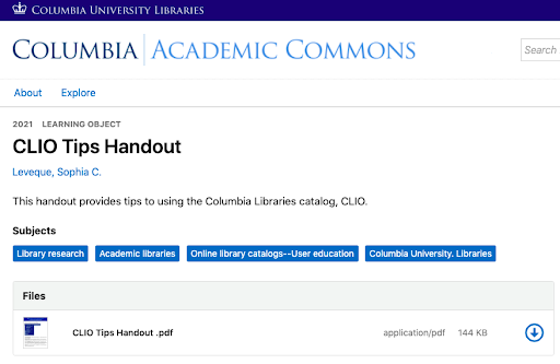 New E-Handouts Support Remote Learning and Teach New Research Methods and Skills