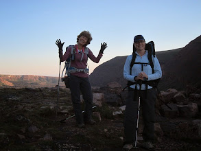Photo: Sharoni and Jean happy to be in the hills.