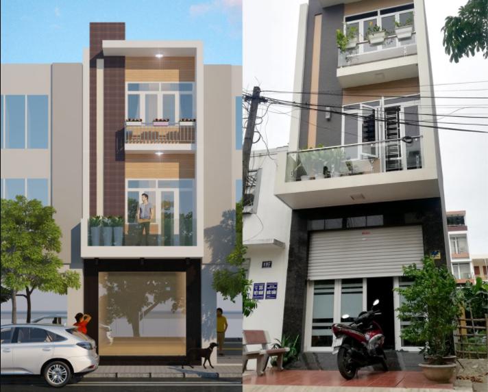 1 căn nhà xây trọn gói theo thiết kế