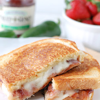 Strawberry Jalapeno Jelly Bacon Grilled Cheese.