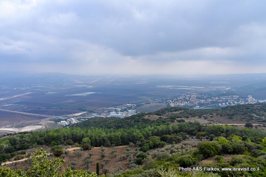 Пейзажи Кармельских гор. Экскурсия гида в Израиле Светланы Фиалковой.