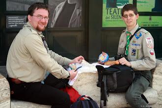 Photo: csövezős ebéd a pízai reptér előtt