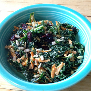 Kale Salad with Sweet Tahini Dressing
