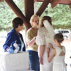 Family by Kasha Newsom - Wedding Reception ( wedding reception, wedding photography, wedding, bride and family, women )