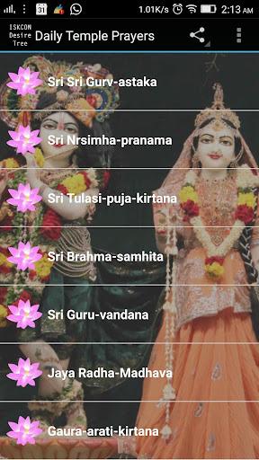 Daily Temple Prayers