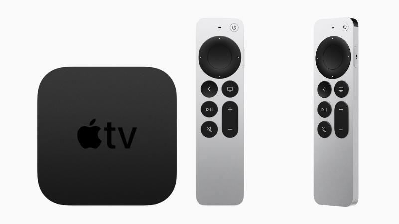 Thiết kế bên ngoài của Apple TV (bên trái) và điều khiển (ở giữa và bên phải). (Nguồn: Apple).