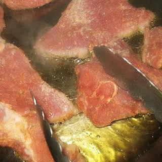 Pork Chops With Mushroom Soup.