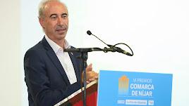 Javier Deleyto durante la entrega de premios.