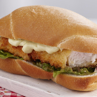 Crispy Fish Sandwiches with Wasabi Mayonnaise.