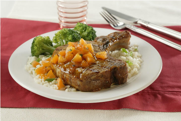 Apricot-Glazed Pork Loin Chops Recipe