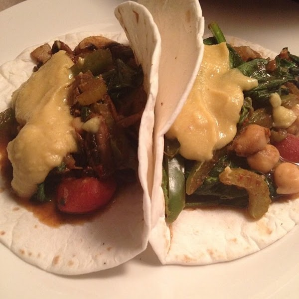 Clean-eating Vegetable Chic-pea Tacos Recipe