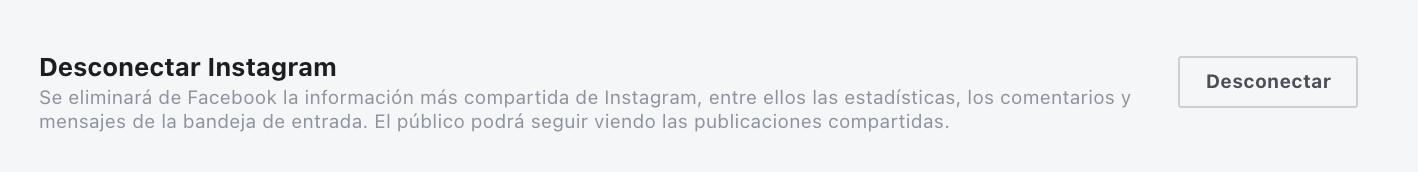vincular Instagram con Facebook