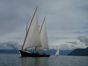 "Photo: sur la barque ""La Savoie"""