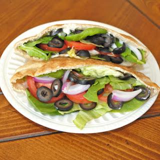 Veggie Pita Pocket Sandwich.