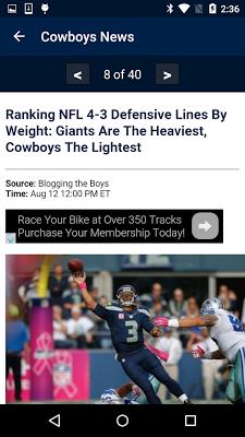 Football News - Cowboys - screenshot
