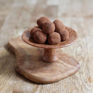 Two Ingredient Chocolate Truffles.