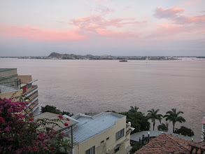 Photo: Sunset over the Rio Guayas