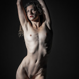adoration of light by Shawn Crowley - Nudes & Boudoir Artistic Nude ( muscular, fit, high contrast, lean, nude )