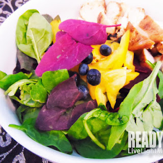 Green and Red Spinach Chicken Salad Recipe.