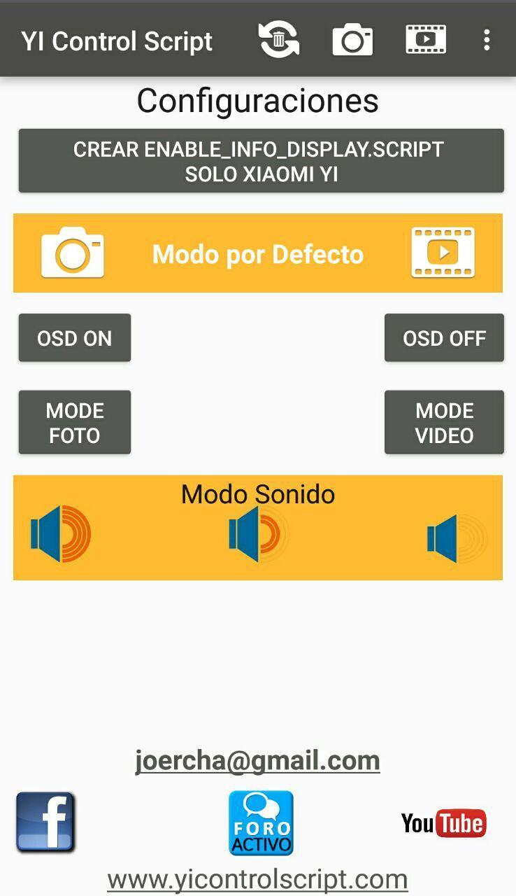 YI Control Script Pro Screenshot 4