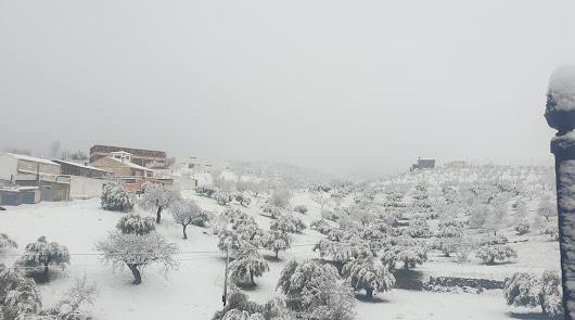 Las fuertes nevadas dejan sin clase a 234 alumnos de nueve centros escolares