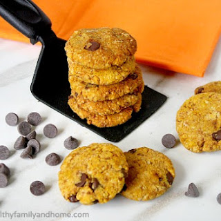Grain-Free Chocolate Chip Pumpkin Cookies (Vegan, Gluten-Free, Grain-Free, Flourless and Dairy-Free)